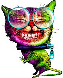Дизайнерская футболка упоротый кот