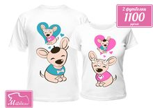 Парные футболки Пёсики