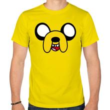 Мужская футболка «Довольная мордочка Джейка»
