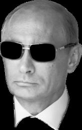 Патриотическая футболка Путин в очках
