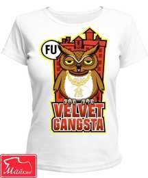 Футболка с совой Velvet Gangsta